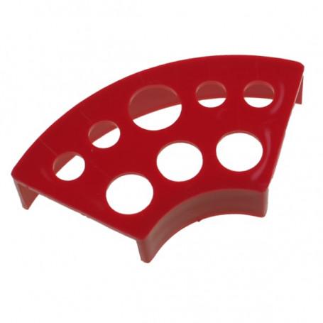 Stojánek na kalíšky plast červený