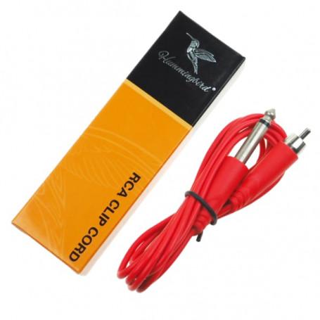 RCA kabel Hummingbird k propojení strojku červený