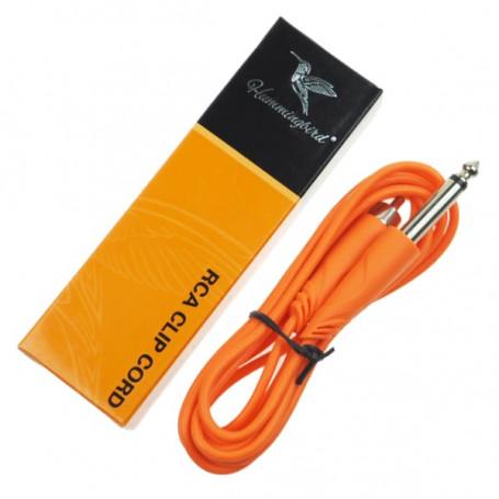 RCA kabel Hummingbird k propojení strojku oranžový