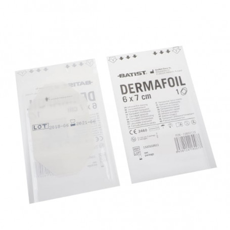 Dermafoil 6x7cm sterilní ochranný film fóliový obvaz po tetování