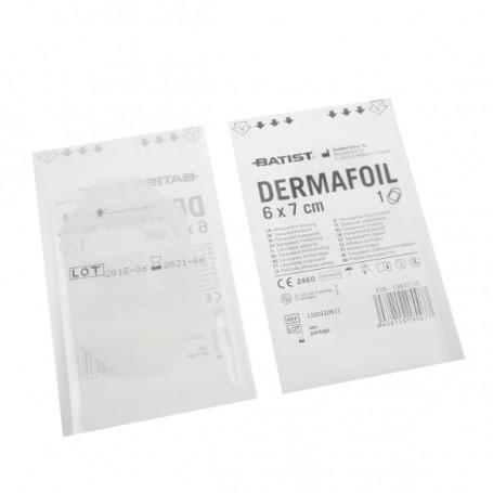Dermafoil 7x8,5cm sterilní ochranný film fóliový obvaz po tetování